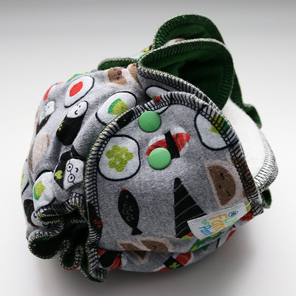 Sushi Time - [Serged, Knit] Newborn - Green Velour