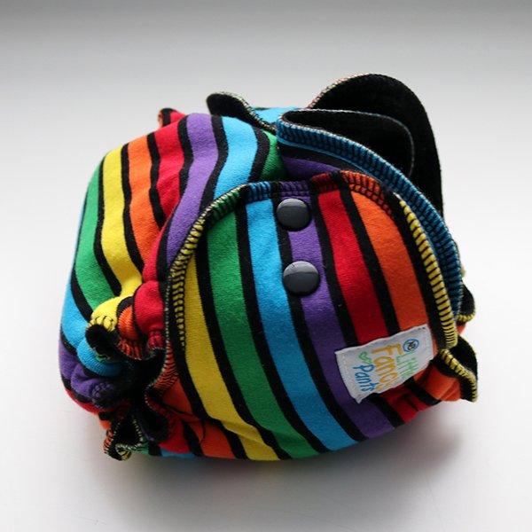 Rainbow Vibes - [Serged, Knit] Newborn - Black Velour