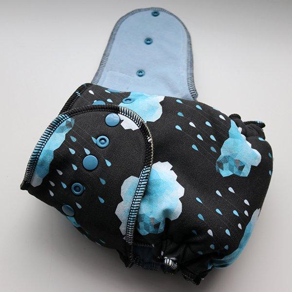 Dark Rain - [Serged, Knit] Size 1 - Baby Blue Velour