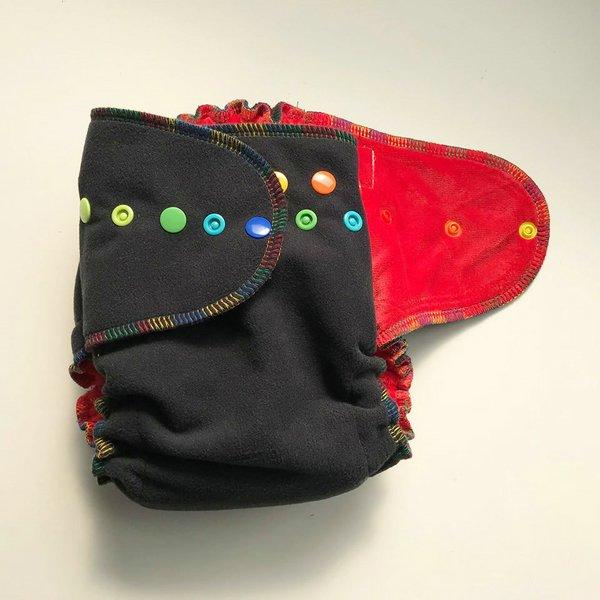 Rainbow Dreams - [Windpro, Sleepy] Size 1.5 - Red Velour