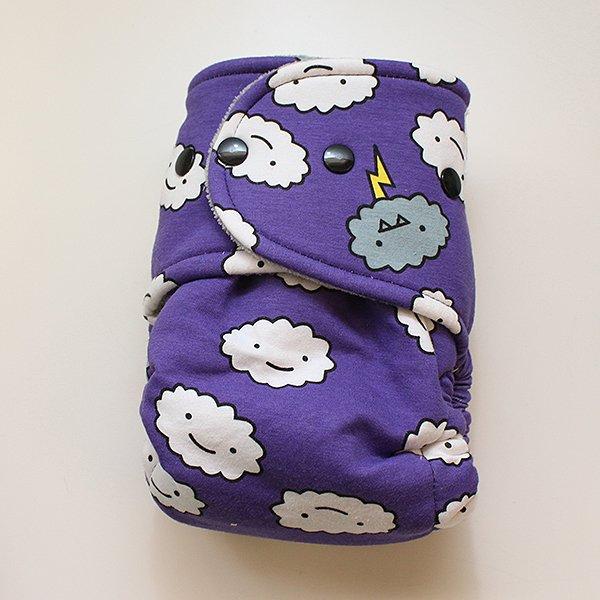 Purple Crankies [Knit] - Size 2 - Heather Gray Velour