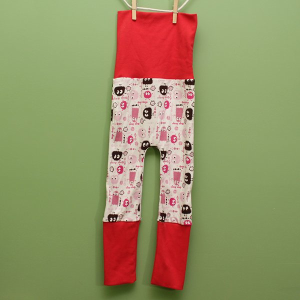 "Love Bums ""Fancy Pants""  - Bubblegum Oogas with Coral Bands (Size 1) no bum circle"
