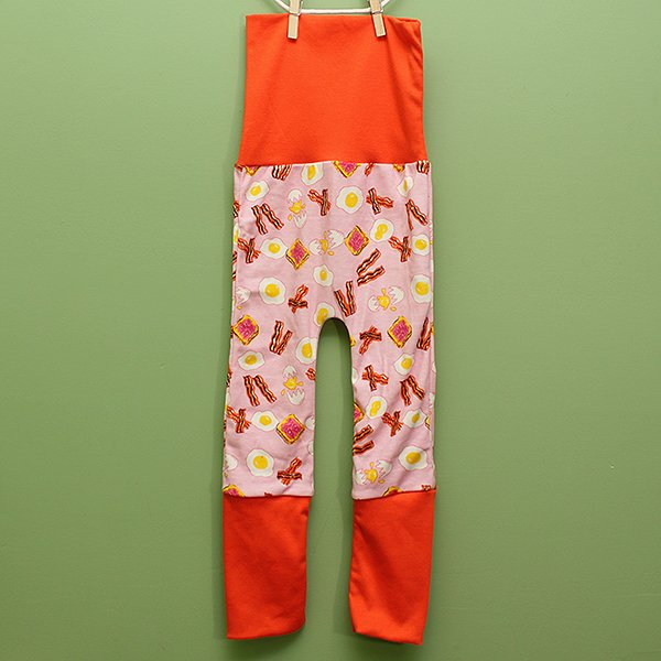 "Love Bums ""Fancy Pants""  - Breakfast with Orange bands (Size 1) no bum circle"