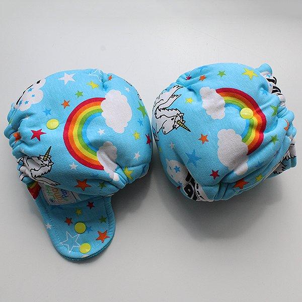 Rainbows & Unicorns - [Knit] Newborn - Aqua Velour