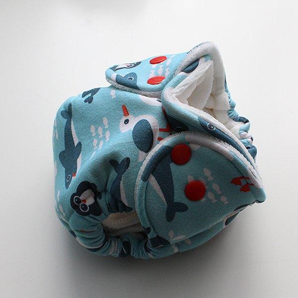 Aqua Babies - [Knit] Newborn - White Velour *SALE*