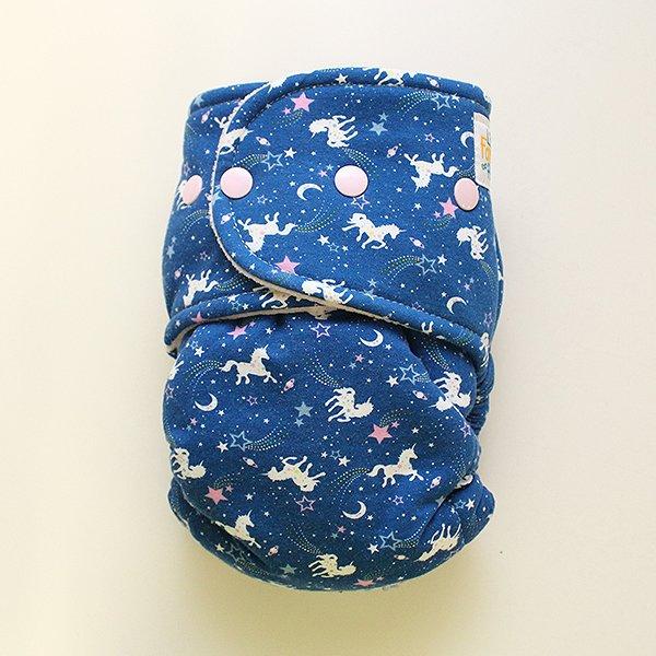 Blue Unicorn Cosmo - [Knit] Size 2 - Light Pink Velour