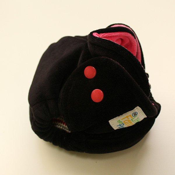 Solid Black/Hot Pink - [Velour] Newborn - Hot Pink Velour