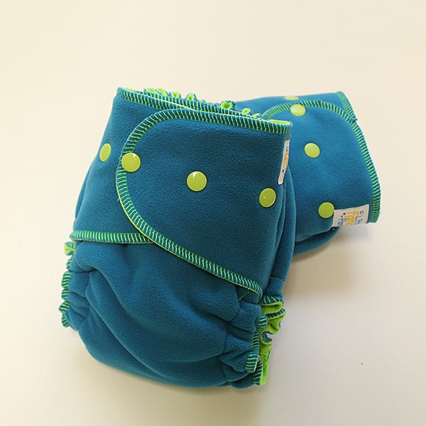 Teal Polartec Sleepy - Serged 1.5 - Lime Velour
