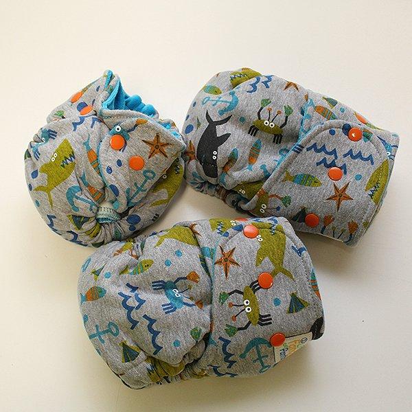 Marina (Gray) - [Knit] Newborn - Aqua Velour