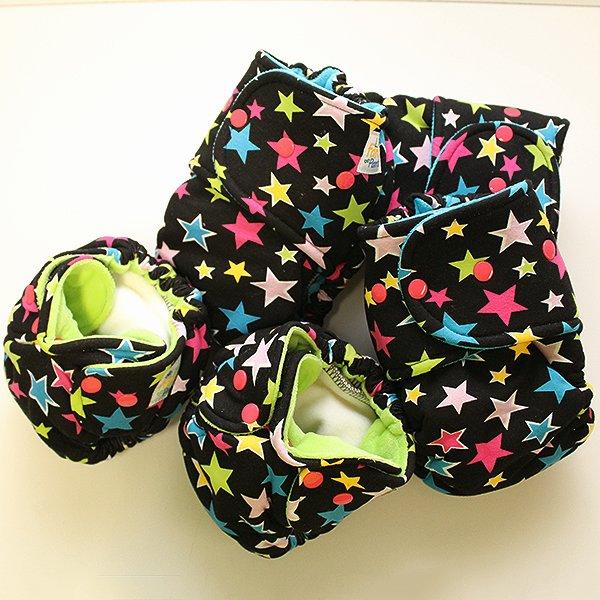 Rainbow Star - [Knit] Size 2 - Aqua Velour