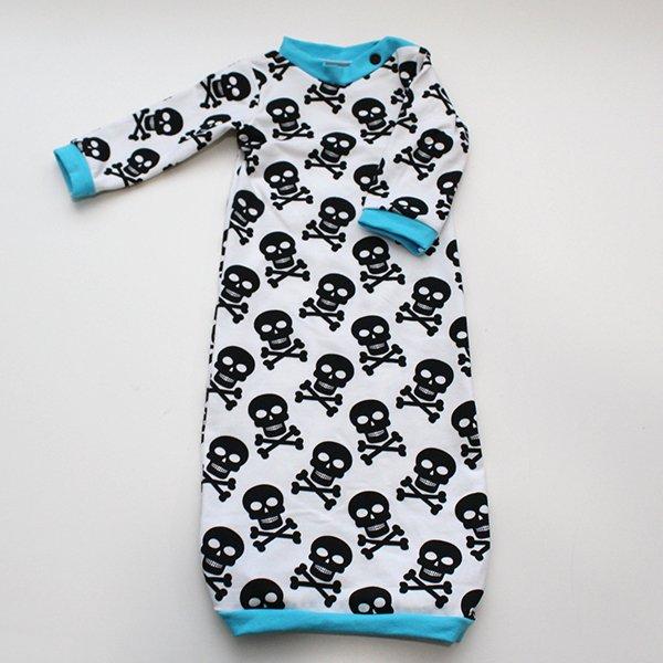 Skulls - Newborn Gown