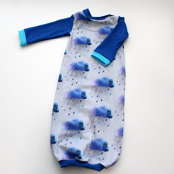 Acid Rain [Blue] - Newborn Gown