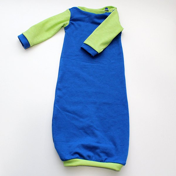 Royal Blue & Lime - Newborn Gown