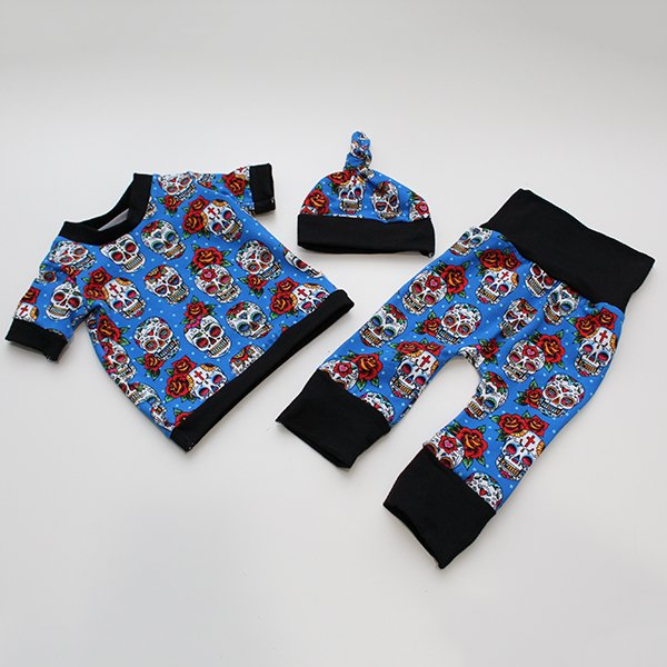 Sugar Skulls - Newborn Outfit [Hat, Shirt, Pants]