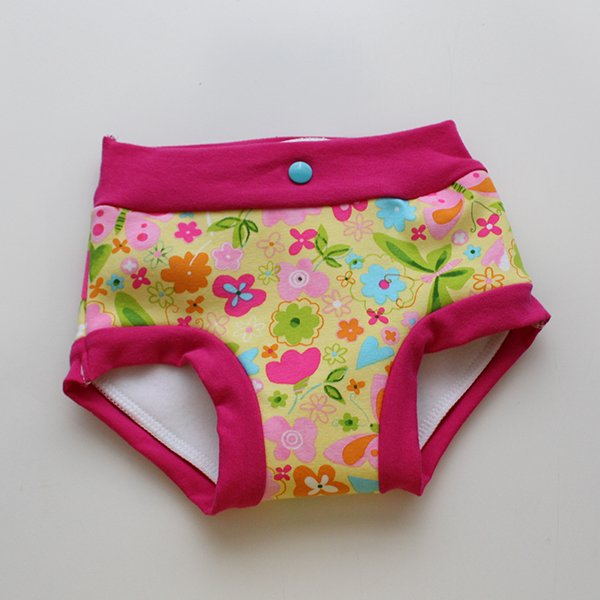Butterfly - Fluffy Undies 2t/3t (double snaps)