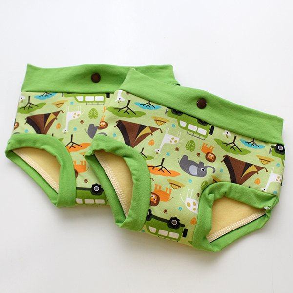 Safari - Fluffy Undies 2t/3t (double snaps)