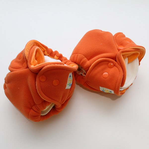 Orange Polartec Sleepy - Newborn