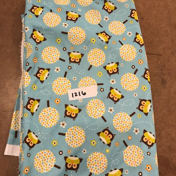 1216 - Owls Swim Knit - 1 yard