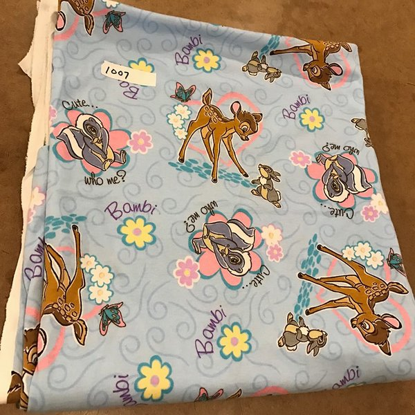 1007 - Bambi - 2 yards + lots of extra Cotton Interlock