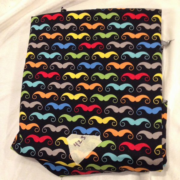 "#423 Mustaches - Woven - 52""xWOF"