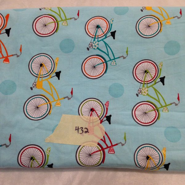 "#432 Blue Bikes - Woven - 85""xWOF + extra"