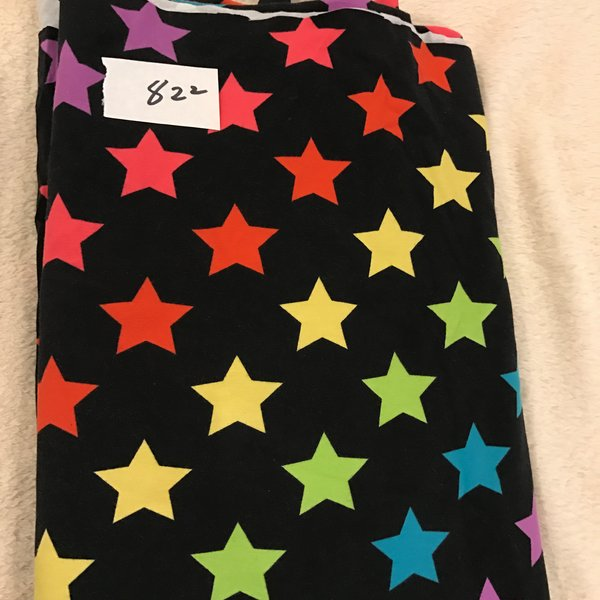 "822 - Rainbow Stars - 55""x37""  Cotton Lycra Knit"