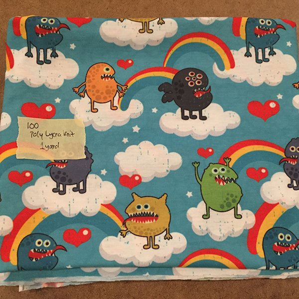#100 - Rainbow Monsters - Poly/Lycra 1 yard