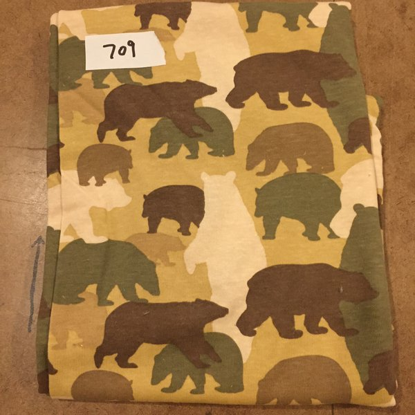 709 Camo Bears 1 yard [Cotton Rib Knit]