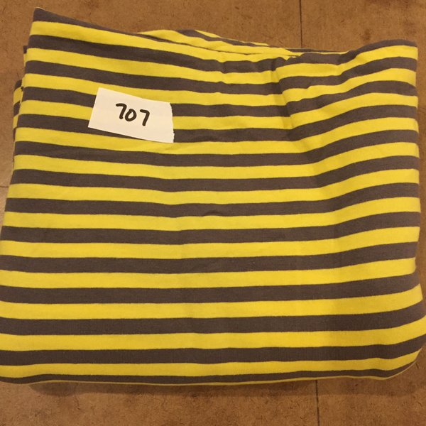 "707 Gray & Yellow ITY 56""xWOF + extra [Cotton Lycra Knit]"