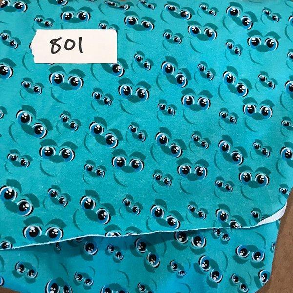 """#801 Sulley Eyes - 30""""x31""""  - Cotton Lycra Knit"""