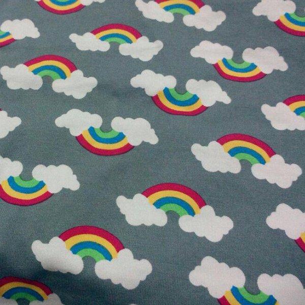 Gray Rainbow - Knit [by the yard]