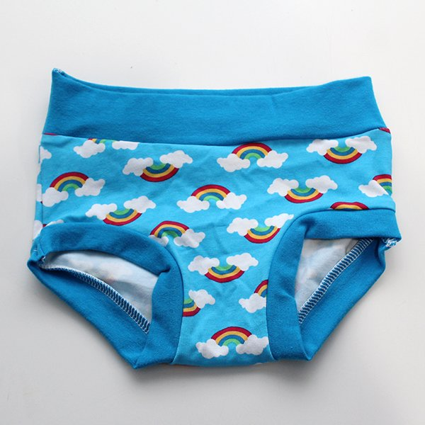 [2t-3t] Undies - Blue Rainbow