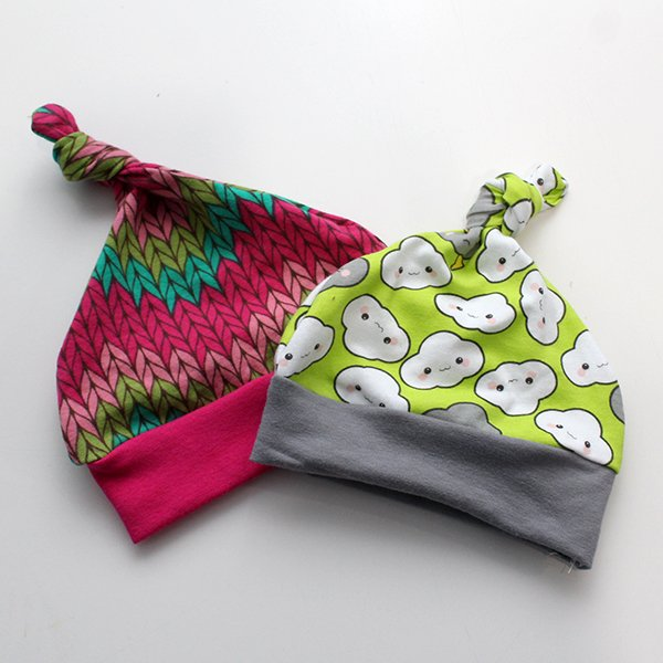 [Newborn] Hat - Knitting / Clouds Set of 2