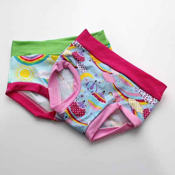 [2t-3t] Undies - Rainbows / Castles Set of 2