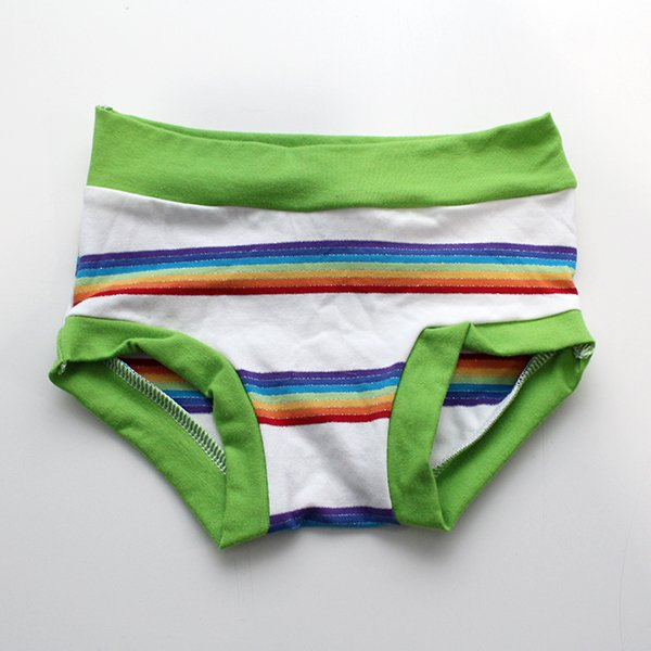 [2t-3t] Undies - White Rainbow