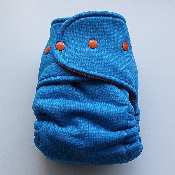 Blue Hardface Windpro Sleepy - Size 2 - [Knit] Orange Velour