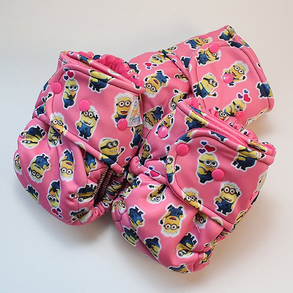 Mini Minions  - [Swimsuit Knit] Size 1 - Hot Pink Velour
