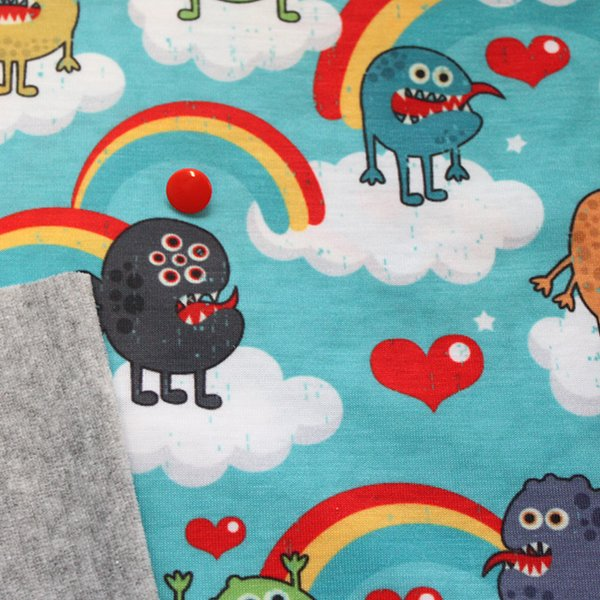 Rainbow Monsters - Pre-Order - [Knit] Heather Gray Velour *Read Listing*
