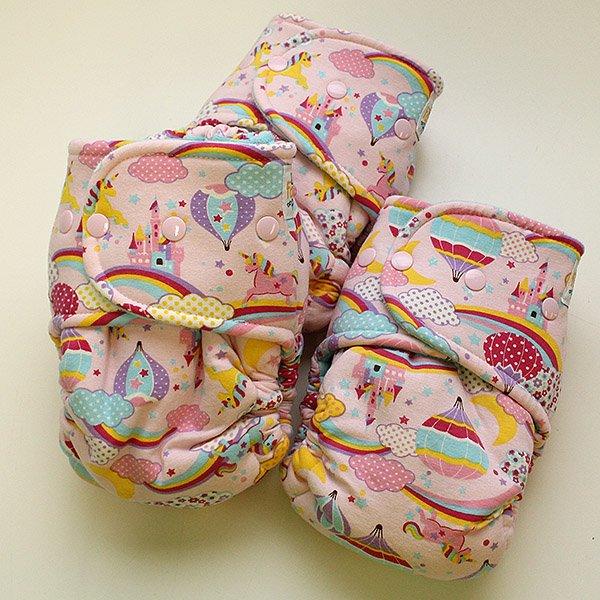 Pink Unicornic - Size 2 - [Knit] Light Aqua Velour
