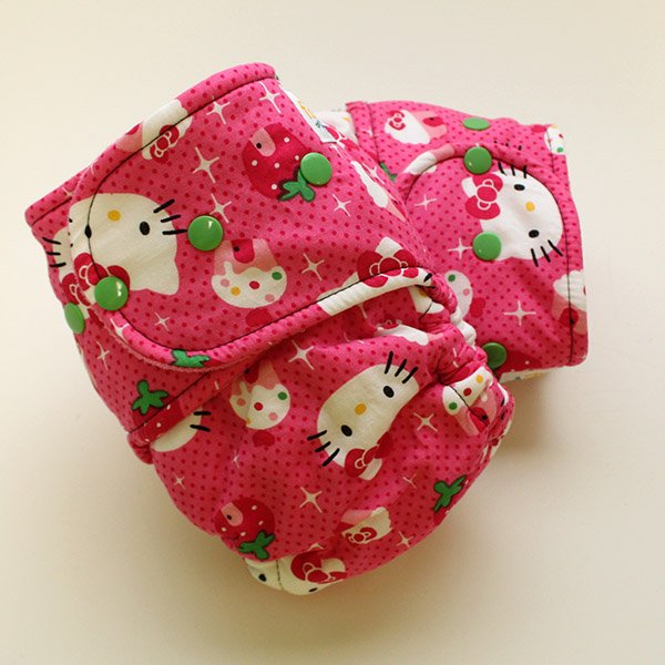 Cupcake Kitty - Size 2 - [Woven] Hot Pink Velour