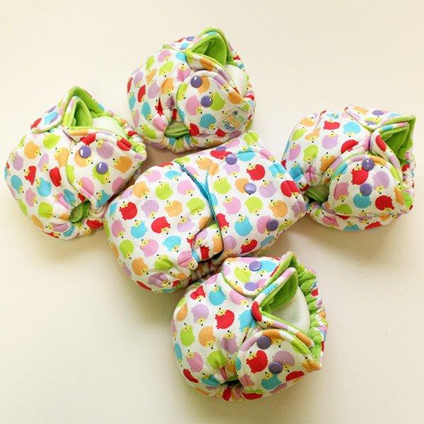 Rainbow Hedgies - Newborn - [Knit] Lime Velour