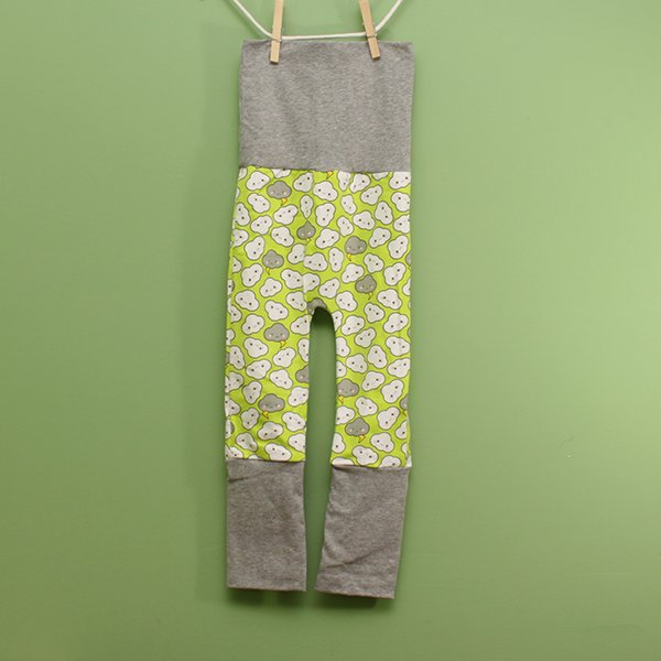 "Love Bums ""Fancy Pants""  - Lime Crankies (Size 1) no bum circle *SALE*"