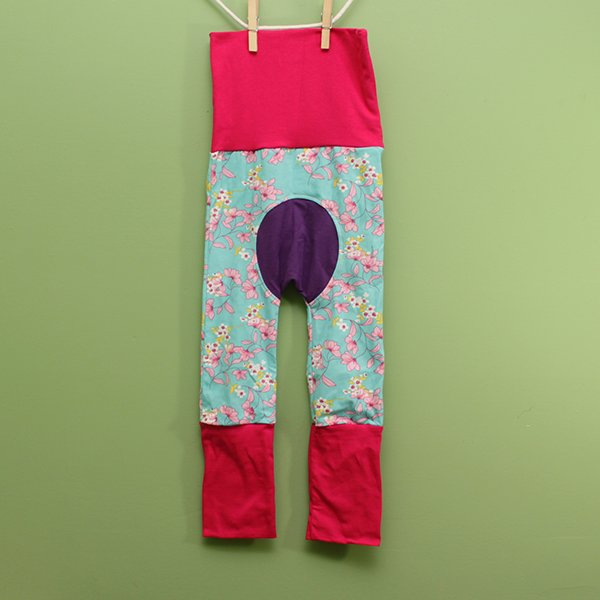 "Love Bums ""Fancy Pants""  - Peaceful Meadow (Size 1) with purple bum circle *SALE*"
