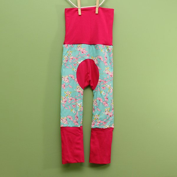"Love Bums ""Fancy Pants""  - Peaceful Meadow (Size 1) with pink bum circle *SALE*"