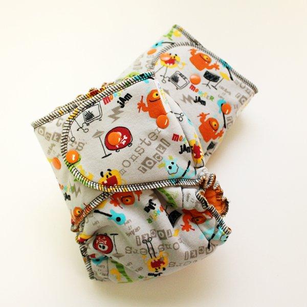 Monster Rock [Knit]  - Size 1.5 Serged - Orange Velour