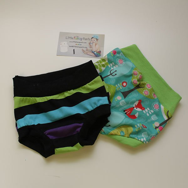 Set 1 - 12 months Undies - Glow Worm & Fox Forest