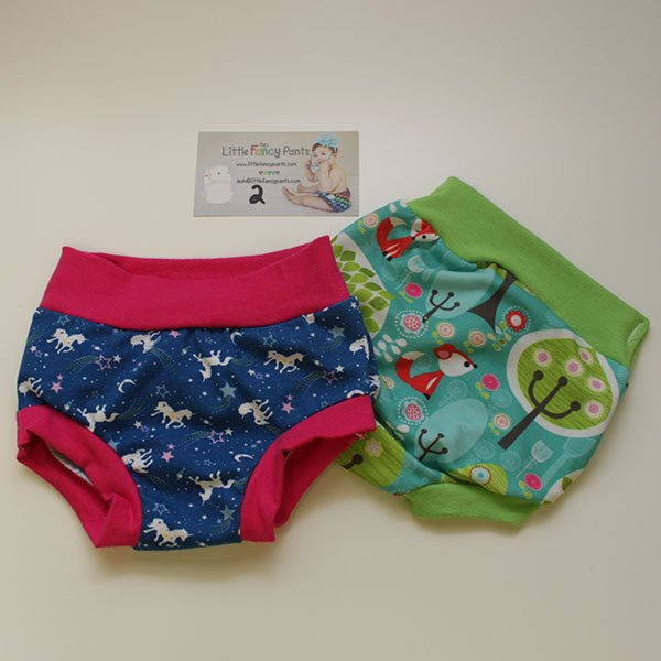 Set 2 - 12 months Undies - Unicorn / Fox
