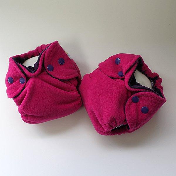Fuchsia Polartec Sleepy [Knit] Newborn -  Grape Velour *SALE*