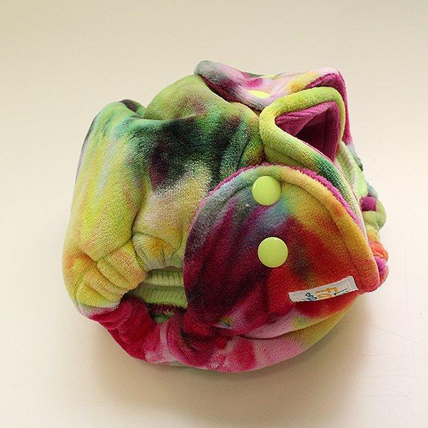 Ice Dyed Velour [Knit]  - Newborn - Raspberry Velour