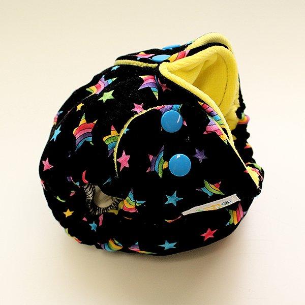 Rainbow Stars [Woven]  - Newborn - Yellow Velour